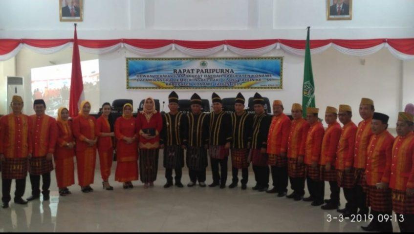 Hut ke 59, Ketua DPRD Konawe Pimpin Paripurna