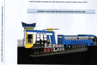 Model Halte Bus dengan Konsep Park And Ride