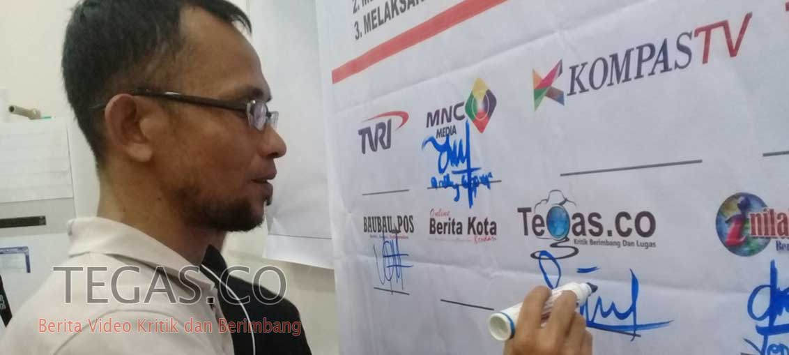 Polres Bersama Insan Pers Buton Gelar Deklarasi Pemilu Damai