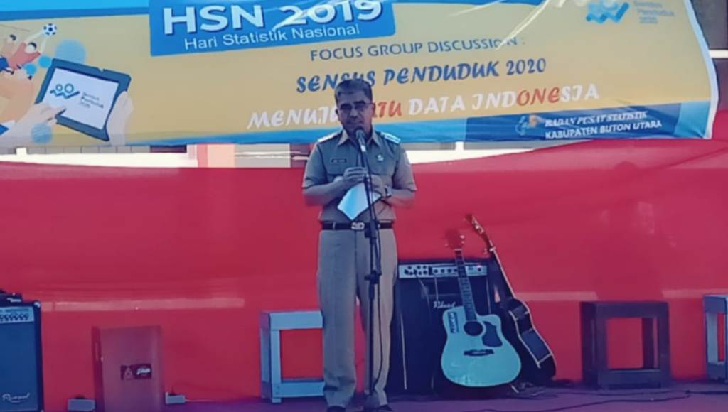Bupati Abu Hasan Harap BPS Butur Bekerja Lebih Independen
