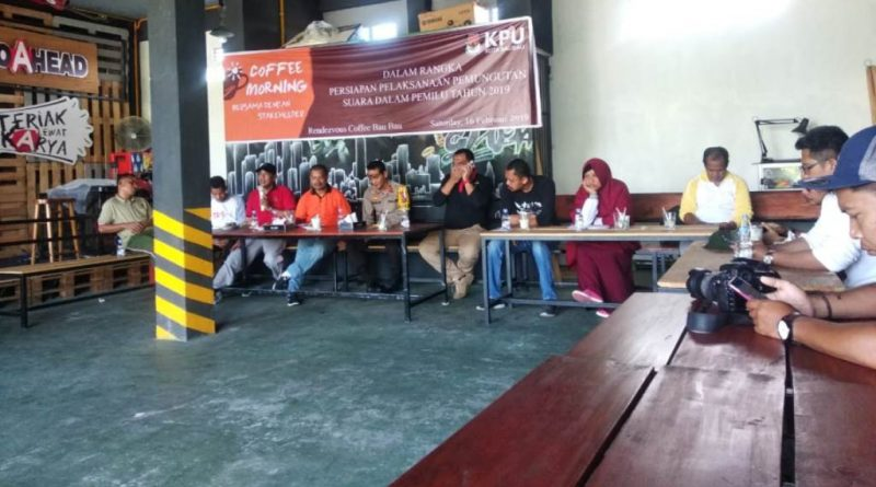 Coffee Morning, KPU Baubau Pemilu 2019 Potensi Penambahan TPS