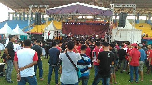 Lounching Persijap Jepara di Stadion Ra kartini Kabupaten Jepara FOTO : DSW