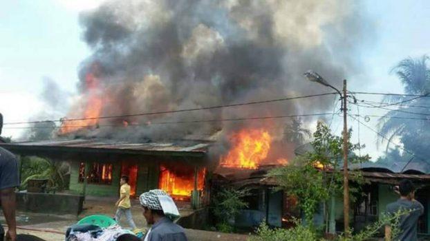 Kebakaran puluhan rumah di Cepu Indah, Subulussalam.