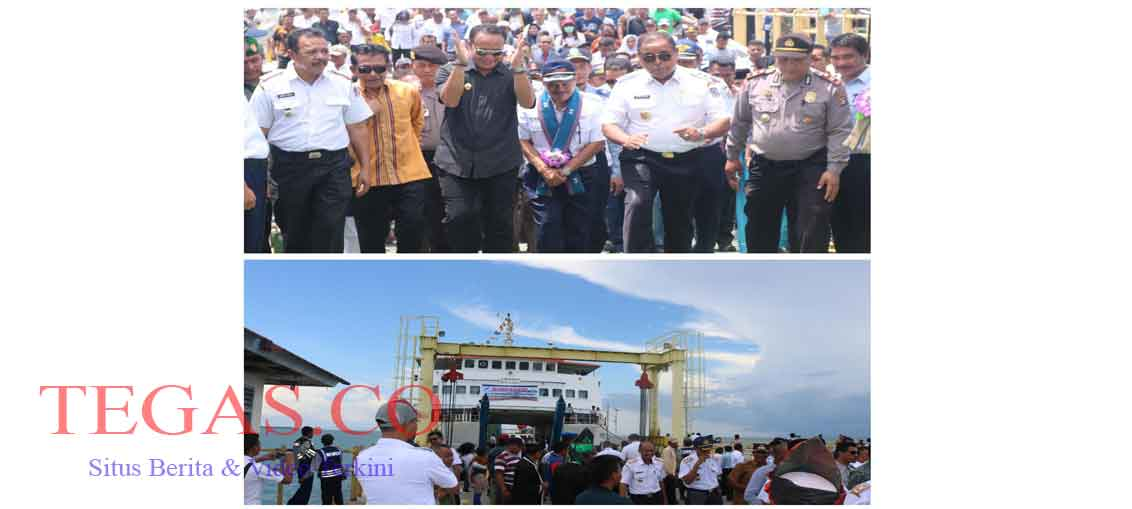 Bupati Muna Barat Resmikan Pelayaran Perdana Feri KMP Bontoharu