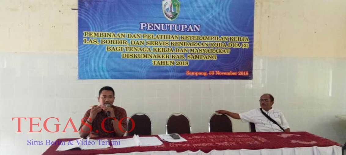Pelatihan Pembinaan dan Keterampilan Kerja di BLK Sampang Resmi Ditutup