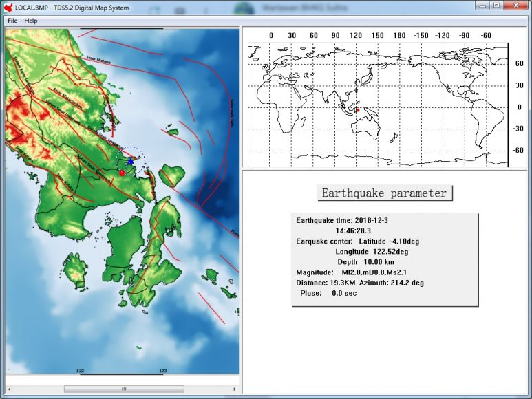Gempa Magnitudo 2,8 Guncang Kendari