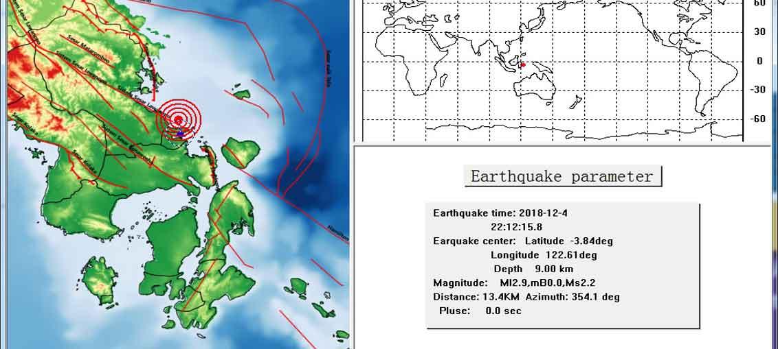 Gempabumi Mengguncang Wilayah Konawe Sulawesi Tenggara