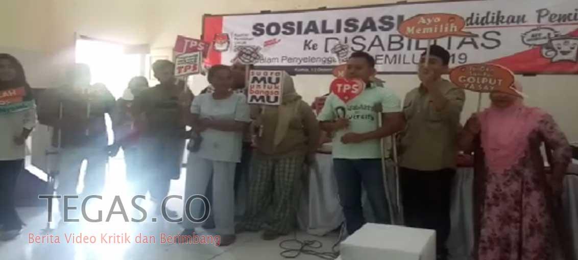 KPU Sampang Sosialisasikan Pemilu 2019 Kepada Penyandang Disabilitas