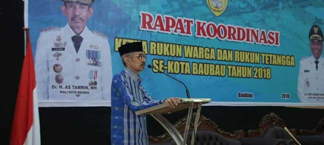 Wali Kota AS Tamrin Pimpin Rakor Ketua RW/RT se Kota Baubau