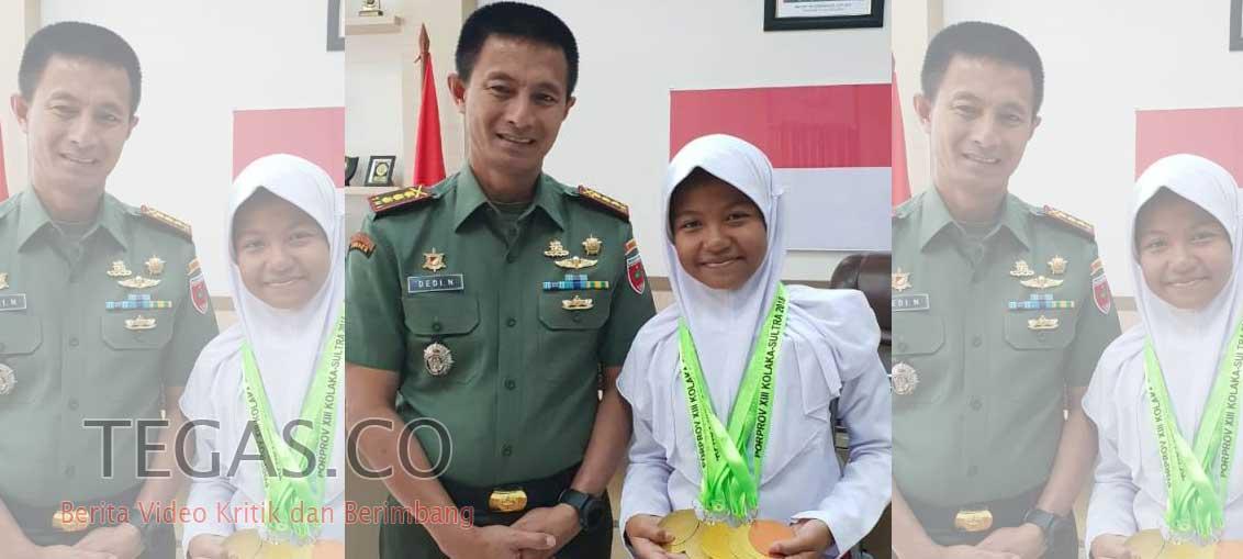 Danrem 143/HO Bangga Atas Prestasi yang Diraih Anak Prajurit di Porprov