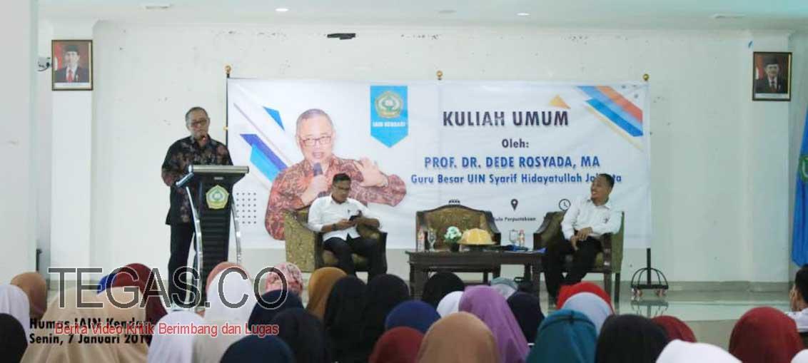 Guru Besar UIN Syarif Hidayatullah Jakarta Berikan Kuliah Umum di IAIN Kendari