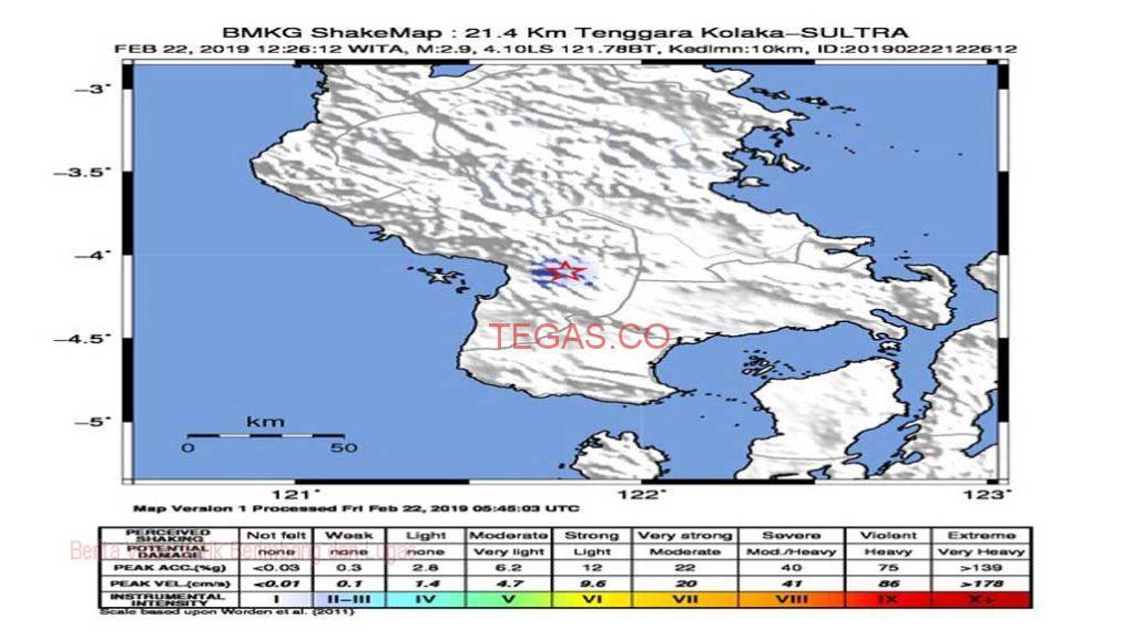 Kolaka Diguncang Gempa 2,9 Magnitudo, BMKG Imbau Masyarakat Tenang