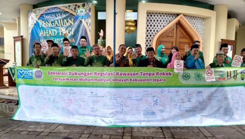 Muhammadiyah Jepara Deklarasikan Kawasan Tanpa Rokok