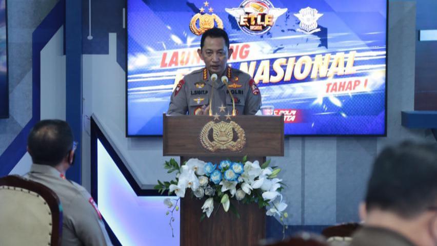 Kapolri meresmikan launching ETLE Nasional Tahap I
