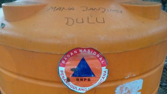 Proyek Sumur Bor BPBD di Desa Ronta Tidak Clear