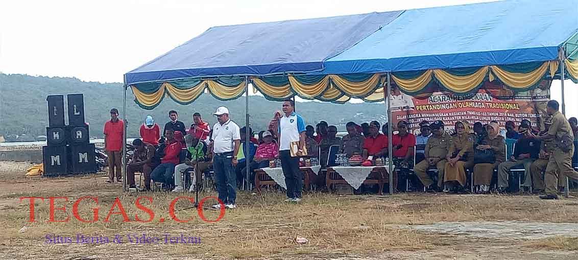 Wakil Bupati Buteng Resmi Buka Pertandingan Olahraga Tradisional Dalam Rangka Meriahkan TMMD ke 103