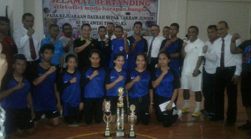 Muna Barat Juara Umum di Kejuaran Sepak Takraw Junior se Sulawesi Tenggara