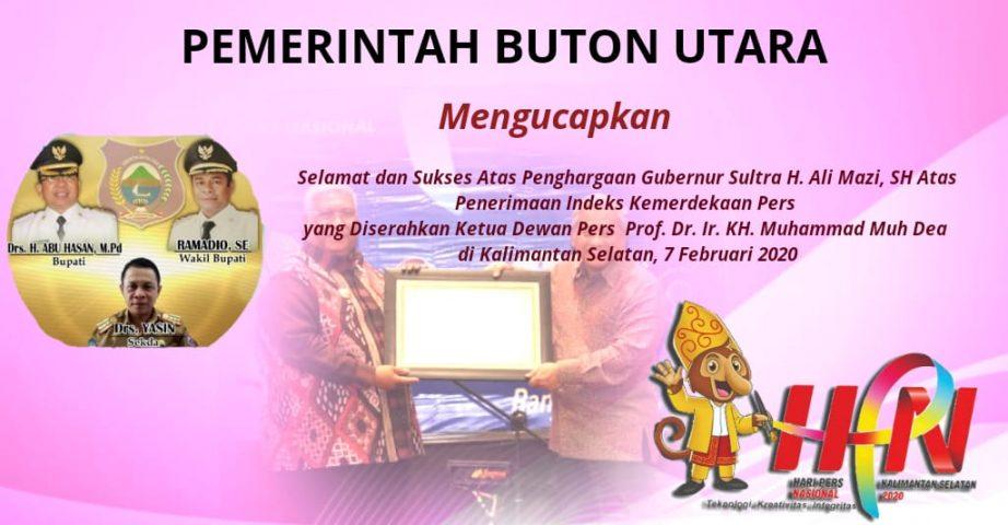 Iklan penghargaan HPN Pemda Butur