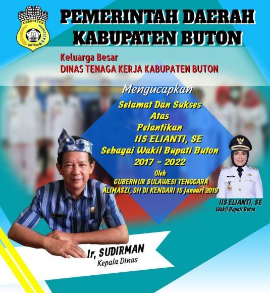Iklan pelantikan Wakil Buapti Buton (1)