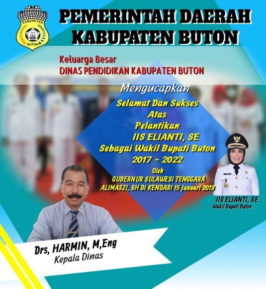 Iklan pelantikan Wakil Buapti Buton (2)