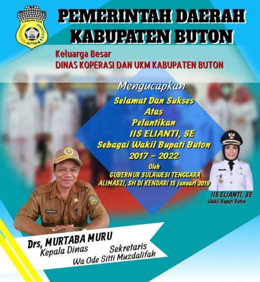 Iklan pelantikan Wakil Buapti Buton (3)