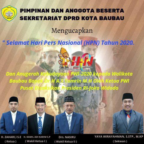 Iklan ucapan penghargaan HPN DPRD Baubau