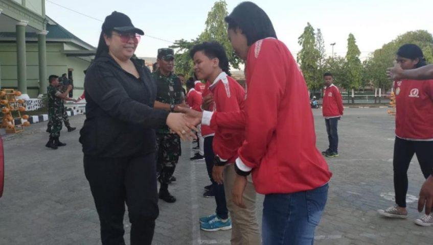 Danrem Dampingi Ketua KONI Lepas Kontingen Atlet Hand Ball ke Pra-PON