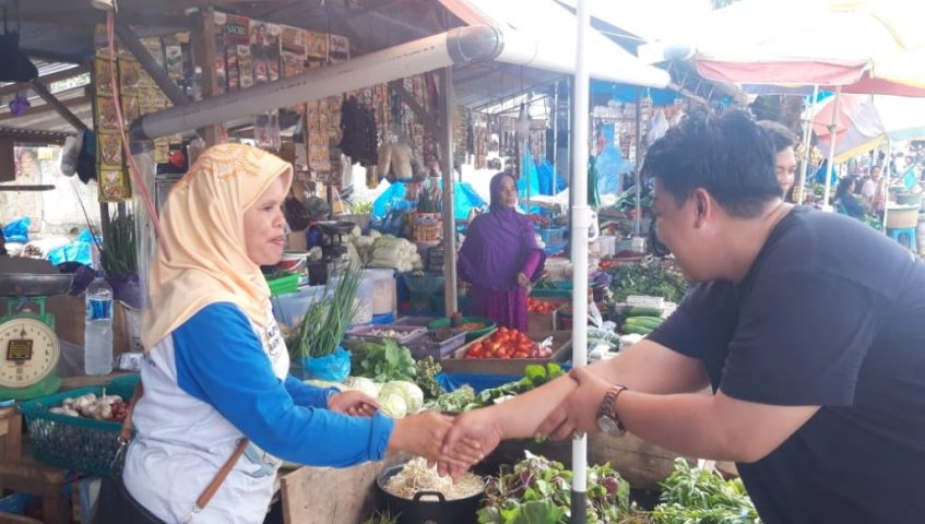 Kampanye di Pasar, Yudhianto: Kesejahteraan Pedagang Bukti Kemajuan Ekonomi