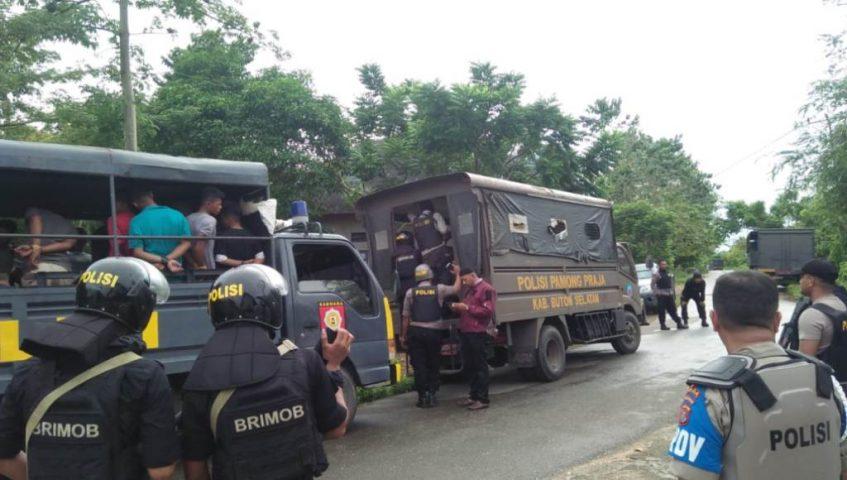 81 Terduga Perusuh di Buton Diamankan di Polda Sultra