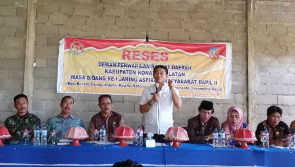 Reses di Dapil II Konsel, Masyarakat Minta Pompa Air Tanpa Mesin