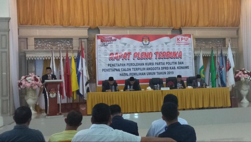 KPU Konawe Tetapkan Anggota DPRD Terpilih