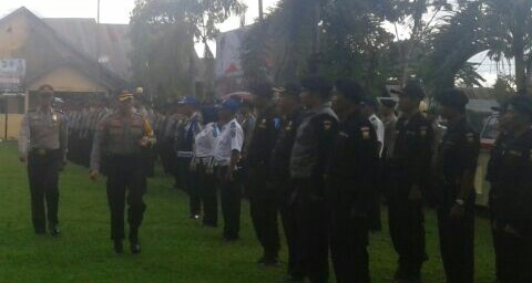 Pengamanan Malam Pergantian Tahun Polres Konsel Siagakan 350 Personil