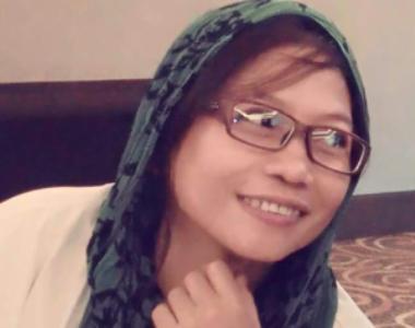 Hania salah satu Aktivis Perempuan Anti Korupsi Sulsel. FOTO : SYAMSUDDIN