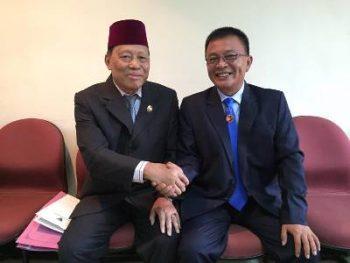 H. Syamsul Ibrahim bersama Wakil Gubernur Sultra H. M. saleh Lasata