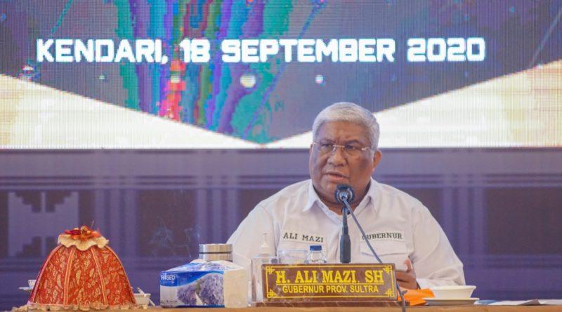Gubernur Sultra Pimpin Rakor dan Evaluasi Pengendalian Pembangunan