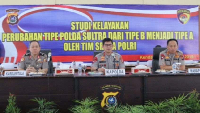 Polda Sultra Menuju Tipe A, Akan Dipimpin Jenderal Bintang 2