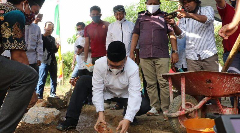 Wali Kota Kendari Hadiri Peletakan Batu Pertama Masjid Al-Amanah