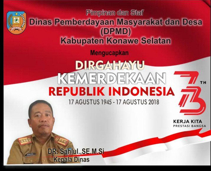 Iklan DPMD Konsel 17 Agustus