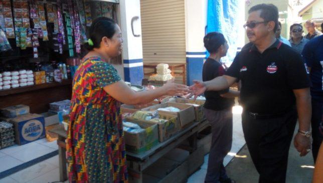 Pedagang di Pasar Poleang, Bombana Dukung Rusda Mahmud