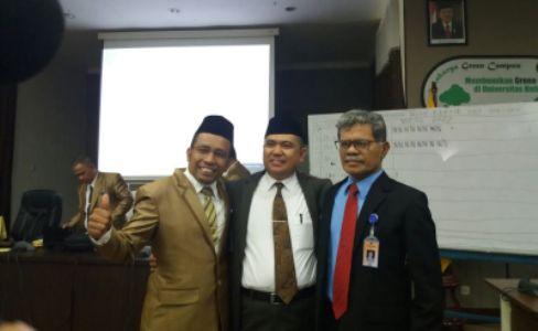 Inilah Calon rektor UHO yang akan dipilih di putaran II Dr Zamrun Prof Buyung Sarita Prof La Sara. FOTO : USNIADIN