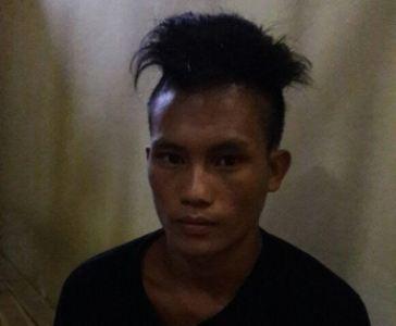 Ujang, Pelaku Curanmor yang di bekuk aparat Kepolisian sektor Palangga. FOTO : MAHIDIN