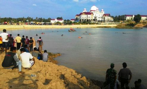 Lokasi tenggelamnya siswa SMK di Aech Timur FOTO : ROBY SINAGA
