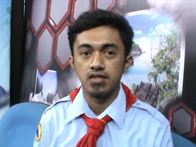 Ketua mahasiswa Pencinta Alam Universitas halu Oleo Muh Dirga.