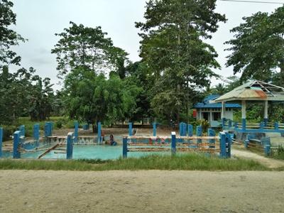 Permandian Air Panas di Buton Utara yang menjadi Destinasi Wisata terlantar akibat tidak ada perawatan. FOTO : MIRDAT