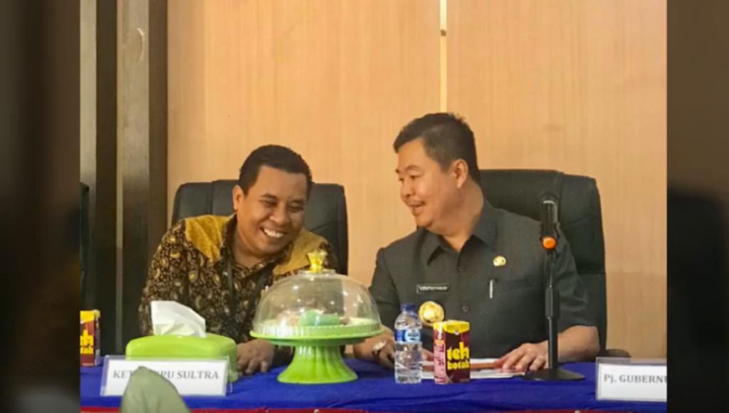 Pj Gubernur Sultra Bisi-bisik bersama KPU, ApaBisikannya
