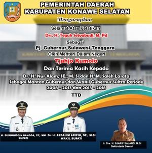 Iklan PLT Gubernur Sulawesi Tenggara