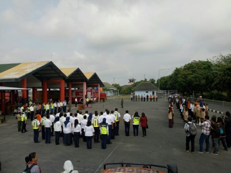 Apel yang di gelar di Bandara Internasional Adisutjipto Yogyakarta. FOTO ; NADHIR ATTAMIMI
