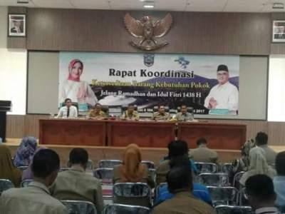 rapat koordinas pemerintah kabupaten probolinggo jelang bulan ramadhan. FOTO : ASL