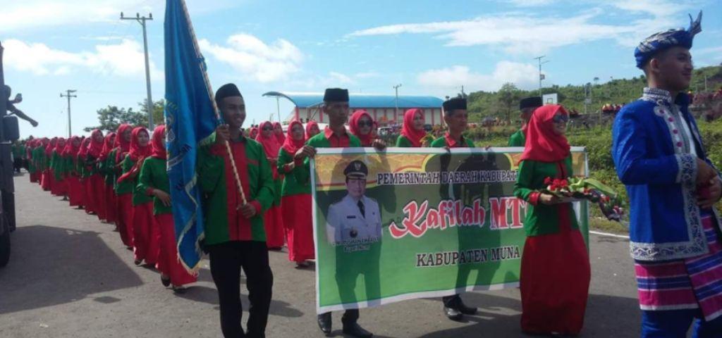 Pawai Ta'ruf MTQ, Kafilah Kabupaten Muna Turun dengan Kekuatan Penuh
