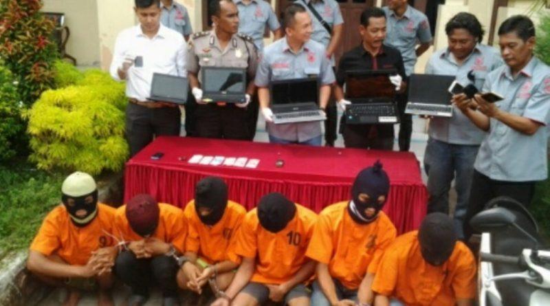 4 Pelaku Spesialis Pembobol Kos-Kosan di Aceh Dibekuk Polisi